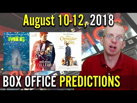 Box Office Predictions   August 10-12, 2018 (The Meg, Slenderman, BlacKkKlansman, Dog Days)