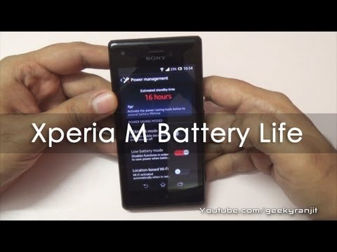 how to save battery on sony xperia m