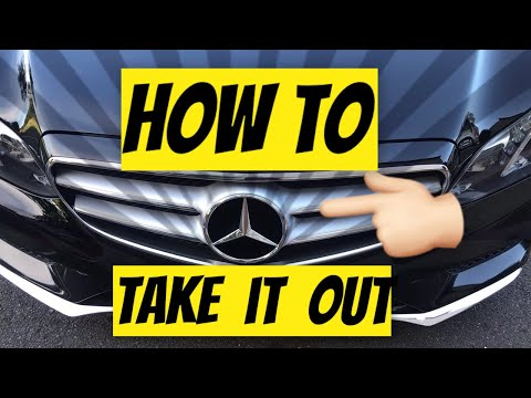 How to remove the star on a Mercedes Benz