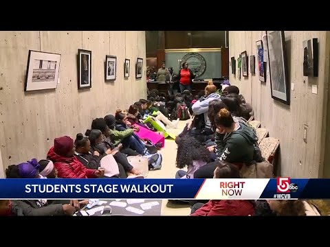 Students walk out of class to protest gun violence, school closures