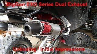 5. YouTube Exclusive! BigGun EXO Dual Exhaust for 15+ Yamaha Raptor unboxing