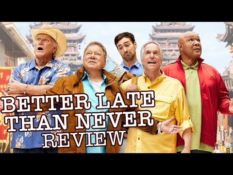 Better Late Than Never Review - William Shatner, Henry Winkler, Terry Bradshaw, George Foreman