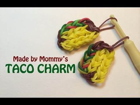 Rainbow Loom Charms: Taco