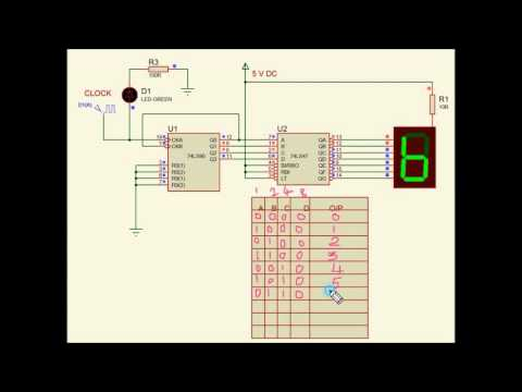 BCD Decade Counter using IC 7490