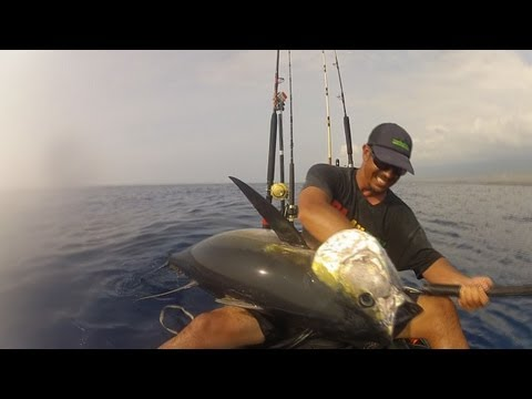 A 114.5 lb Ahi From a Kayak – Hawaii Jan 2013