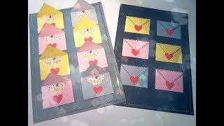 How to DIY surprise envelopes card craft tutorial | Красивая открытка с конвертами-сюрпризами