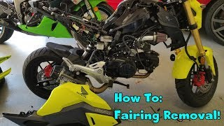9. 2018 Honda Grom Fairing Removal How To. 2016 2017