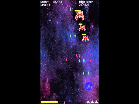 Video of Free Space Invaders Style Game