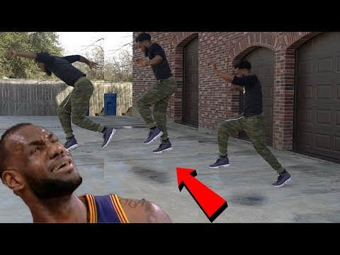 *IMPOSSIBLE* TWO STEP INVISIBLE BOX CHALLENGE! JORDAN VS LEBRON SNEAKER PERFORMANCE TEST! BASKETBALL