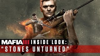 On this episode of Inside Look, we sit down with Hangar 13 to talk about Stones Unturned, the next DLC for Mafia III coming May 30. Find out what motivates Donovan to leave the motel room behind and take up arms alongside Lincoln.About Mafia III1968. New Bordeaux, Louisiana. The rules of organized crime have changed. After years of combat in Vietnam, Lincoln Clay knows this truth: Family isn't who you're born with, it's who you die for. When his surrogate family, the black mob, is slaughtered by the Italian Mafia, Lincoln builds a new family on the ashes of the old and blazes a path of military-grade revenge through the brutal criminal underworld responsible.NEW BORDEAUX - A Reimagined 1968 New OrleansA vast, diverse and seedy open world ruled by the mob and corrupt officials and richly detailed with the sights, sounds and emotionally-charged social atmosphere of the eraAN UNINTENDED AND LETHAL ANTI-HEROBe Lincoln Clay, an orphan and Vietnam veteran hell-bent on revenge against the Italian Mafia for the brutal slaughter of the black mob, the closest thing to family he's ever had.REVENGE YOUR WAYChoose your own personal play-style from brute force and blazing guns to stalk-and-kill tactics as you use Lincoln's military training and gathered intel to tear down the Italian Mafia.A NEW FAMILY ON THE ASHES OF THE OLDBuild a new criminal empire in your own unique way by deciding which of your lieutenants you reward and which you betray.Follow us for exclusive access and to get updates about Mafia III first:Official Website  http://mafiagame.com/ Official Facebook Page  https://www.facebook.com/mafiagame/ Official Twitter  https://twitter.com/mafiagame YouTube Channel http://www.youtube.com/mafiagame