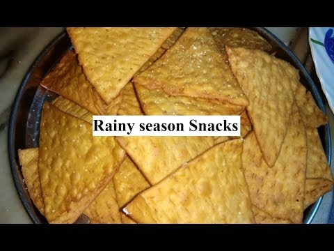 Wheat Flour Namkeen / Snacks - Monsoon Snacks Recipe