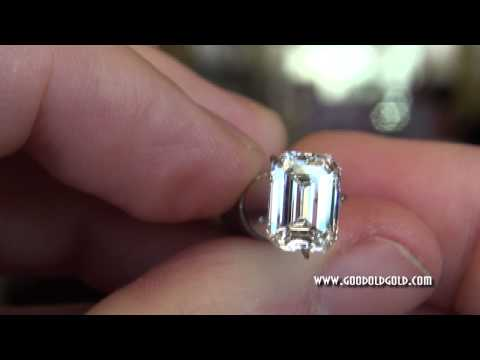 Available 3ct+ I VS2 Rare Cut Emerald Cut Diamond with perfect ratio