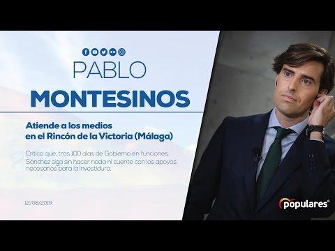 Declaraciones de Pablo Montesinos en Rincón de la Victoria (Málaga)