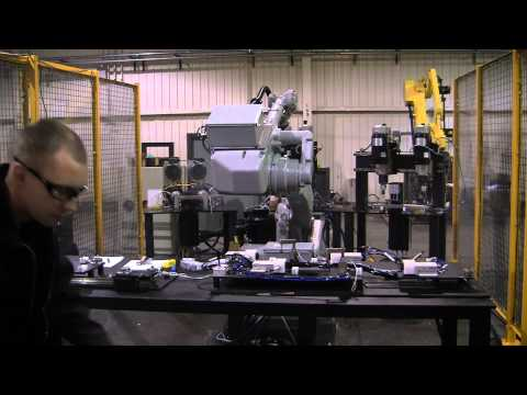Drilling System with Motoman UP50 Industrial Robot