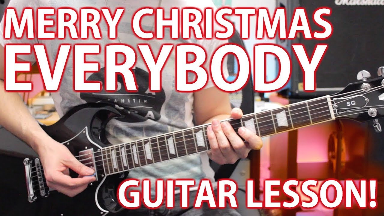 Merry Christmas Everybody by Slade – Guitar Lesson! Easy Christmas Songs
