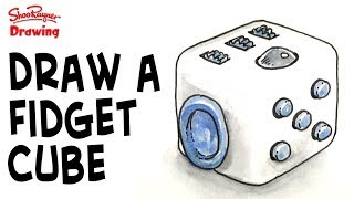 Learn how to draw a fidget cube. Really quite a complicated thing to draw, but if you just see it as a simple cube with bits sticking off it, then you will find it a bit easier!What is a fidget Cube? Well it started out as a Kickstarter project Created by Matthew and Mark McLachlan. Here you can see  their original pitch video which is a lot of fun https://www.youtube.com/watch?v=m5eq0TVxCKwWant one now? go here in the UK http://amzn.to/2rTQh1Sand here in the US http://amzn.to/2s4mHIVOver 6.5 million dollars was pledged towards the creation of this toy for people who like fidgeting. it has lots of different, but totally useless, elements to play with.Want to know what's inside a fidget cube? see here! Created byMatthew and Mark McLachlanand are fidget toys bad for you? see here https://www.youtube.com/watch?v=MAAEIoUADD8With award winning illustrator, Shoo RaynerYou can support my videos on Patreon ➡️ http://bit.ly/ShooPatreonPageSubscribe for lots more drawing :) ➡️ http://bit.ly/Sub2ShooEveryone asks about the tools I use when I'm out using my sketchbook. here's a video to show you what and how I use them. https://youtu.be/QJwjV1FKdygThe Pentel Aquash Brush is here in the Uk http://bit.ly/PentelAquabrushUKand here in the US   http://bit.ly/PentelAquashBrushUSARotring Tikky Graphic in the UK here http://bit.ly/TikkyGraphicUKin the USA http://bit.ly/TikkyGraphicUSThe Cotman sketching watercolour set is here in the UK http://amzn.to/1gNpZ8sand in the US here: http://amzn.to/1gaG6qAThe Seawhite of Brighton a5 travel journal is here in the Uk http://bit.ly/SeawhiteJournalUK and here in the USA http://bit.ly/SeawhiteA5JournalUSATwitter http://twitter.com/shooraynerGoogle+ https://plus.google.com/u/0/117947137150973770218Facebook http://www.facebook.com/profile.php?id=750207845Website http://www.shooraynerdrawing.commusic by http://www.youtube.com/cleffernotesShoo Rayner is an award-winning illustrator and author of over 200 books for children. The Shoo Rayner Drawing Ch