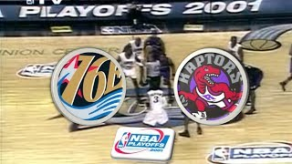 Philadelphia 76ers VS Toronto Raptors (Series tied 3-3) | 2001 Playoffs | Game 7