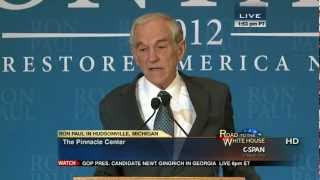 Hudsonville (MI) United States  city photos : Ron Paul speech and press conference in Hudsonville, Michigan CSPAN 2/26/12