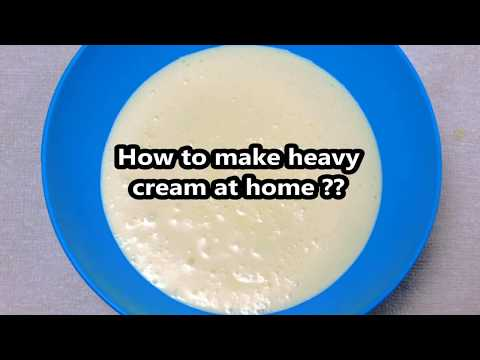 Heavy Cream Recipe |  How To Make Heavy Cream At Home From Milk (English Subtitles)