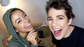 Liza does my makeup! I actually ended up looking pretty solid which is pretty impressive for me... Only watch this if you like ...
