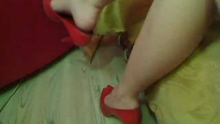 My Friend Diana Tapping And Dangling Feet In High Heels Stiletto.mpg