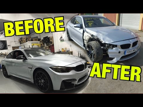 Rebuilding a salvage BMW M4 in 10 minutes