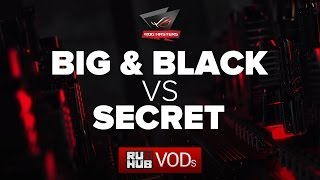 Big and Black vs Secret, ROG Masters, game 2 [Adekvat, Smile]
