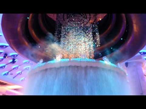 Macau: Galaxy hotel fancy foyer water display!