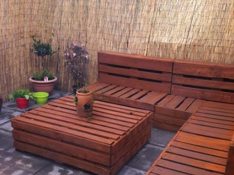 DIY Ideas - Garden Furniture Made From Old Pallets