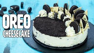 No-Bake White Chocolate Oreo Cheesecake