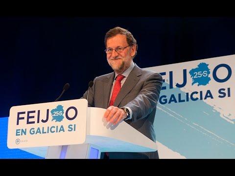 """Rajoy: """"Apostamos por una Galicia moderada, estable y solvente"""""""