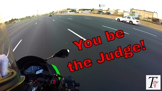 2. Best Beginner Sports Bike - Kawasaki Ninja 300 Highway Run! + COPS