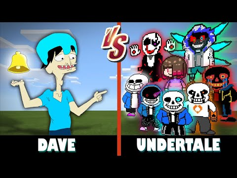 (me) Dave vs. Undertale Gang | Minecraft (I CRUSHED THEM ALL!)