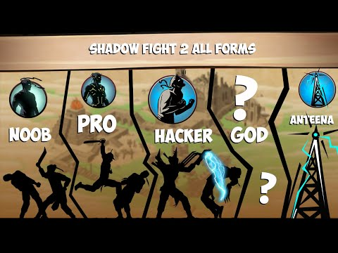 Shadow Fight 2 Noob,Pro,Hacker,God All Shadow Forms!