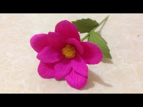 How to make rose crepe paper flowers flower making of crepe paper video how to make simple crepe paper flowers flower making of crepe paper paper mightylinksfo