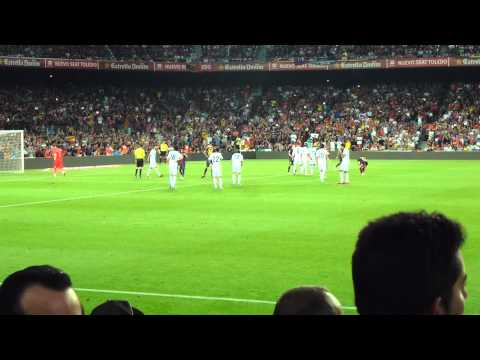 FC Barcelona - Real Madrid 3-2 Supercopa de España 23/08/12  Iniesta Foul Messi Penalty (видео)