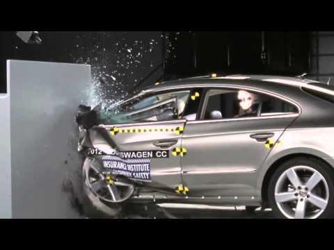 2012 Volkswagen (Passat) CC IIHS Narrow/Small Overlap Frontal Offset (Marginal Rating)