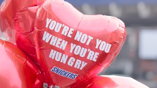 You're forgetful when you're hungry. So forgetful, in fact, it may have skipped your mind to get your significant other that Valentine's card. But Snickers has got your back. Get down to Waterloo today to grab a free card.