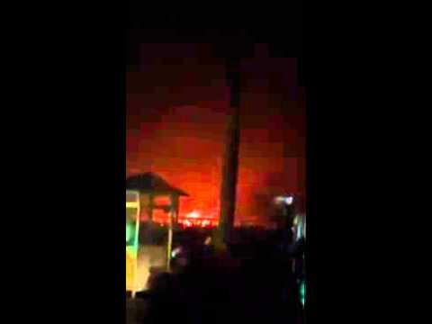 Cháy lớn ở Chợ Phố Hiến mới khánh thành 2014