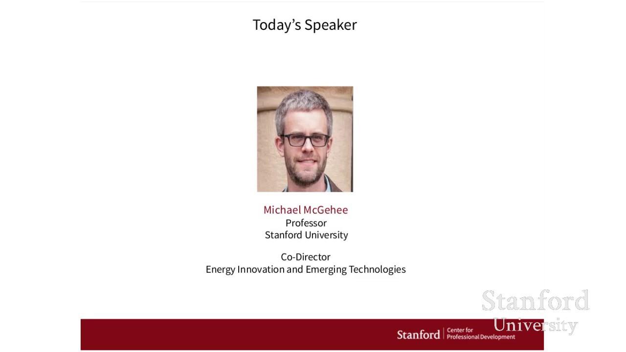 Stanford Webinar – Game-Changer for Solar Energy: Perovskite Semiconductors