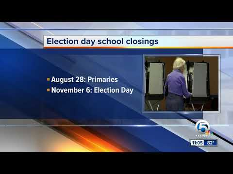 Election day school closings in Palm Beach County
