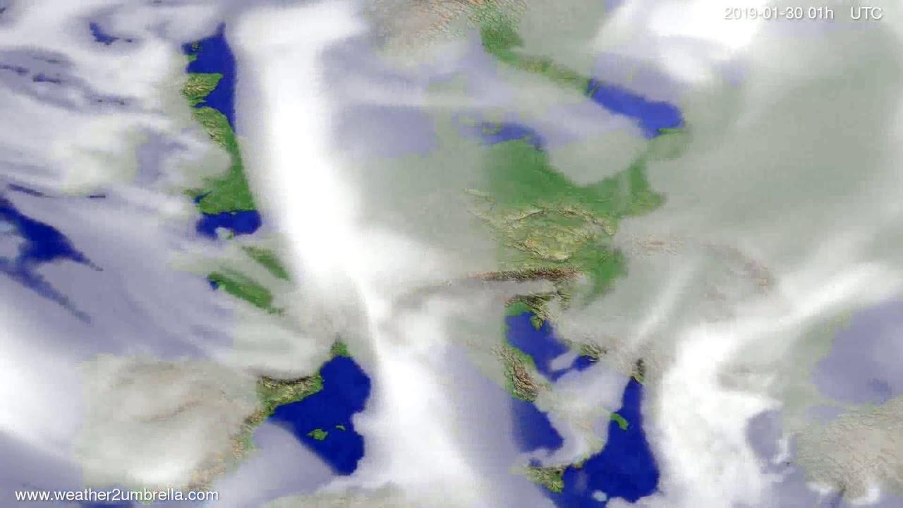 Cloud forecast Europe 2019-01-29