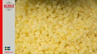 Potatoes: Dice 12x12x12 mm