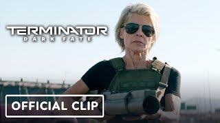 Terminator: Dark Fate Clip - Sarah Connor's Entrance Official Clip by IGN