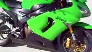 4. MEAN LOOKING GREEN 2005 KAWASAKI NINJA ZX6R 636