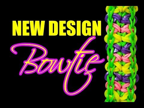 NEW Rainbow Loom Design – BOWTIE Bracelet HD