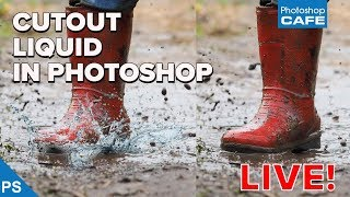 How to cut out liquid and semi transparent things in Photoshop: photoshopCAFE Live Stream