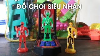 Bộ đồ chơi siêu nhân sức mạnh biến hình dành cho trẻ em là chiếc điện thoại với 5 anh em siêu nhân xanh, vàng, đỏ, tím, hồng khi lắp siêu nhân vào chiếc diện...