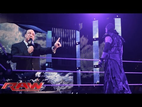 Raw - Despite an attempt from Paul Heyman to prevent the match, Undertaker plans on keeping his streak alive at WrestleMania 30. http://www.wwe.com/wwenetwork.