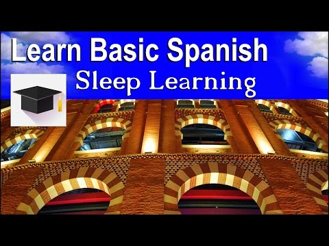 Sleep Learning ★ Spoken Spanish ★ Learn Spanish With The Power Of Binaural Beats.
